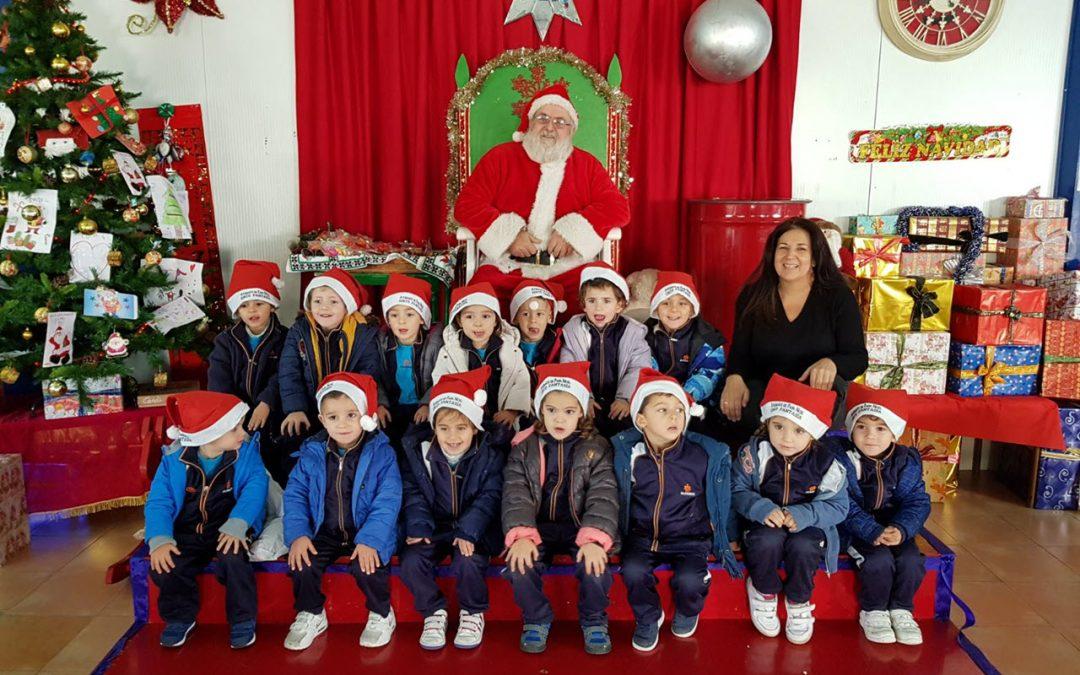 Ed. Infantil visitó a Papá Noel en el Circo Fantasía