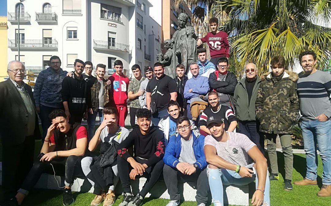 FPB visita el monumento a Don Bosco en Málaga