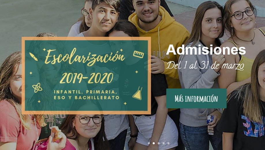 Admisión de solicitudes para el curso 2019-2020