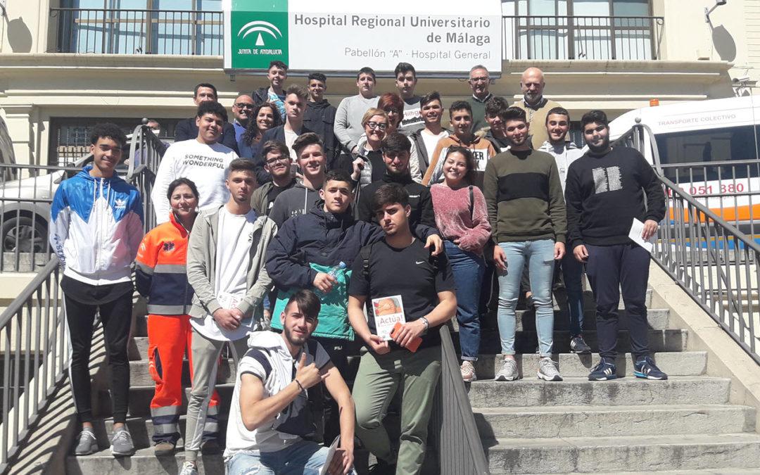 FPB participa en el taller de RCP del Hospital Regional Universitario de Málaga