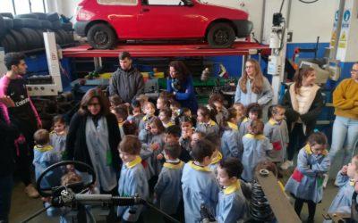 Educación Infantil visita el Taller de Mantenimiento de Vehículos
