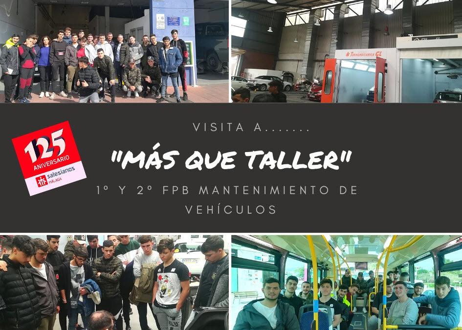 """Visita de 1º y 2º FPB de Mantenimiento de Vehículos a la empresa """"Más que taller"""""""