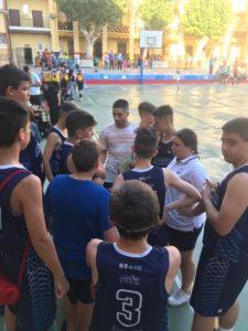 Recogida del Trofeo Juego Limpio (equipo baloncesto Infantil Masculino)