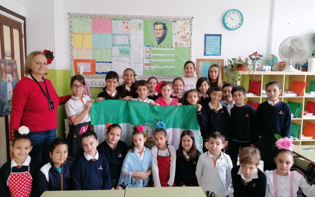 Celebrando el día de Andalucía en Salesianos Málaga