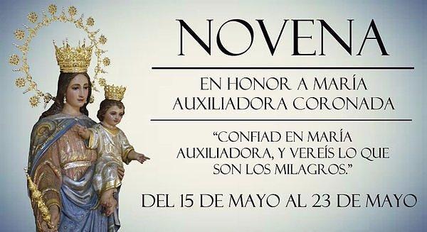 Novena en honor a María Auxiliadora Coronada