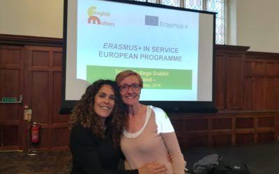 """Dos de nuestras profesoras realizan un curso """"CLIL"""" en Dublín gracias a las Becas Erasmus+"""