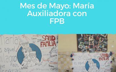 FPB celebra el mes de María Auxiliadora montando un altar en su honor