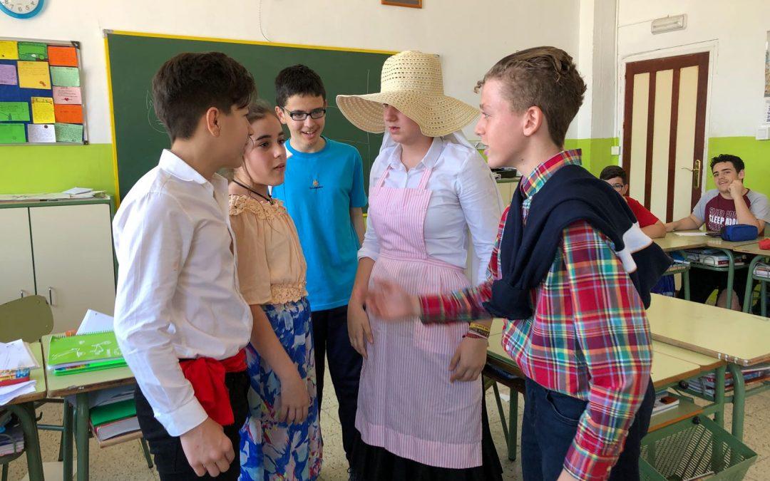 Los alumnos de 2º de ESO representan las variedades lingüísticas en España