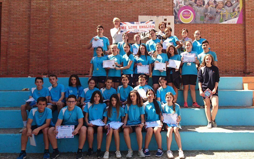 Entrega de diplomas a los alumnos de ESO que han participado en The Big Challenge