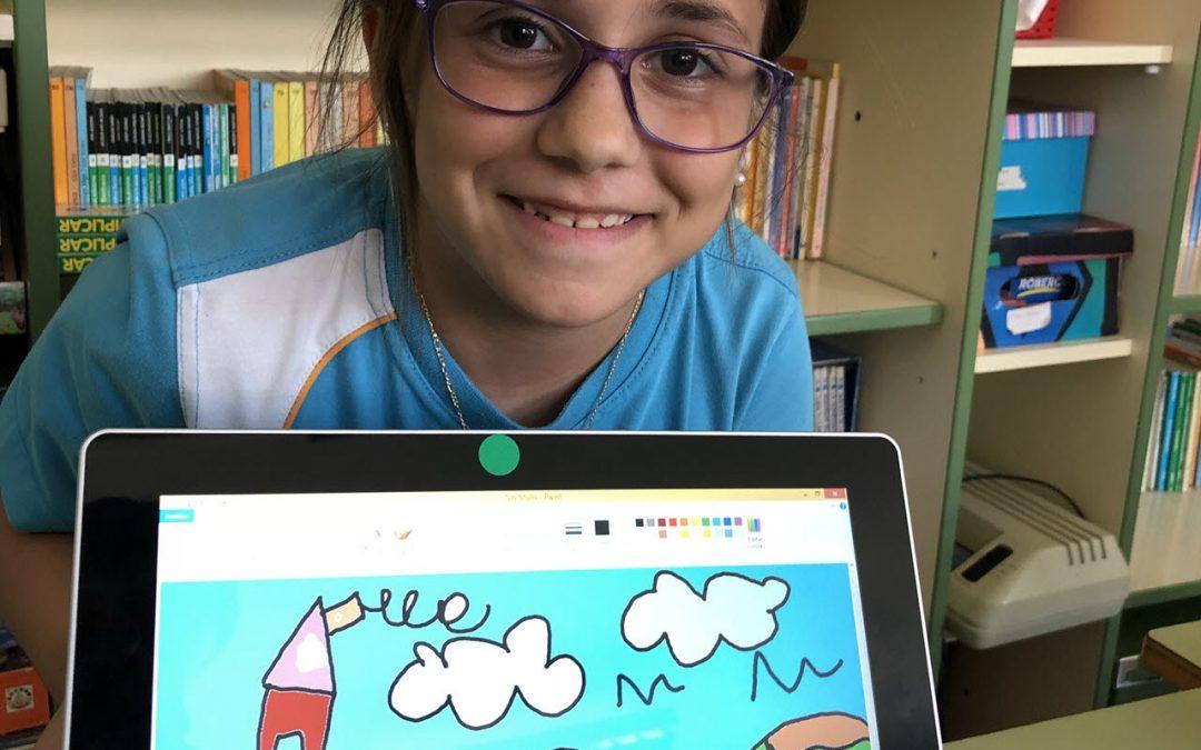 Arte y tecnología van de la mano en 3º de Educación Primaria