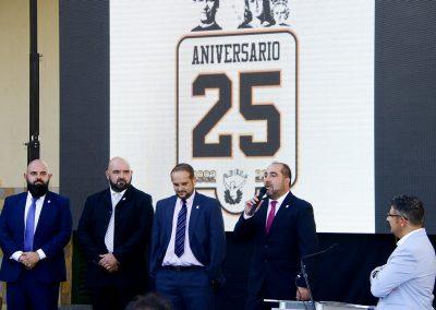 Presidentes de la Historia del Club. De derecha a Izquierda: David Rodriguez, Ernesto Pérez, Juan Miguel  Báez y Francisco Naranjo