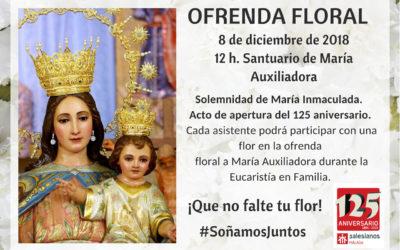 Ofrenda floral a María Auxiliadora