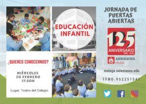 Jornada de puertas abiertas EDUCACIÓN INFANTIL
