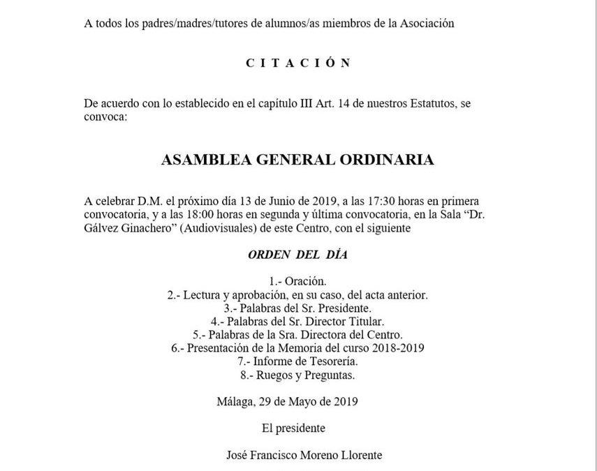 Asamblea general ordinaria de la AMPA (Audiovisuales)