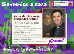 Visita de D. Ángel Fernández Artime (Rector Mayor de la congregación), con motivo del 125 aniversario de la casa salesiana de Málaga.
